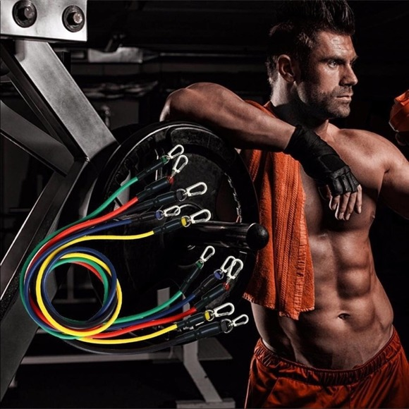 Home Gym Resistance Bands Workout Muscle Fitness